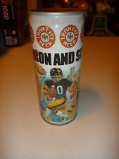 """Vintage IRON CITY Pittsburgh """" Men of Iron and Steel """" 16oz Beer Can (NICE !)"""
