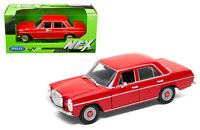 WELLY 1/24 SCALE RED MERCEDES BENZ 220 DIECAST CAR MODEL  24091RD