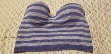 Victoria's Secret purple striped strapless Bra 34b