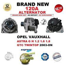 Para Opel Vauxhall Astra G H 1.2 1.6 1.8 GTC TwinTop 2003-ON nuevo 120A Alternador