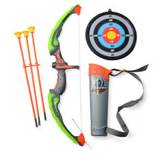 Light Up Archery Bow Arrow Toy Set Kids With 3 Suction Arrows Shooting Game Gift
