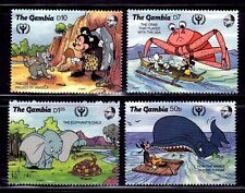 SELLOS TEMA DISNEY. GAMBIA  1991 1031/34  DUMBO / MINNIE / MICKEY MOUSE 4v.