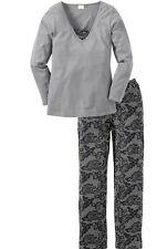 Geblümte bodenlange Damen-Pyjama-Sets