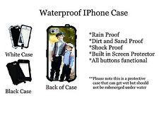 Custom Your picture  Waterproof Iphone SE 5 5s 5c Black Case