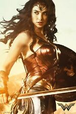 WONDER WOMAN featuring Gal Gadot FULL SIZE MOVIE POSTER 24 x 36