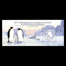 TAAF 2018 - 20th Anniversary of the Madrid Protocol Birds Penguins - MNH