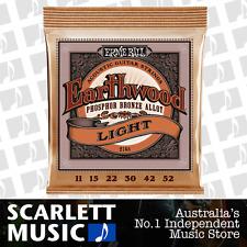 Ernie Ball 2148 Earthwood Phosphor Bronze Light Acoustic Guitar Strings *NEW*