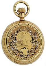 Swiss 18k Gold with Enamel Hunting Case Pocket Watch