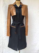 BCBGMAXAZRIA Celene Leather Contrast Trench Coat Sz XS all saints