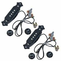 2sets Pre-Wired Cigar Box Guitar Pickup with Volume & Tone for electric gui U4Z4