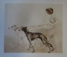 ORIGINAL Louis Icart Premier Coursing only 3 known rare hand watercolored engrav