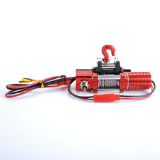 RC 4WD Scale 1/10 Electric Winch Red Alloy Metal For RC Rock Crawler D90