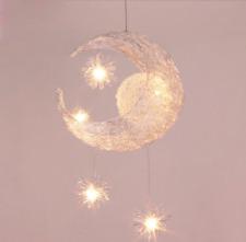 Moon & Star Children Kid Child Bedroom LED Pendant Lamp Chandelier Ceiling Light