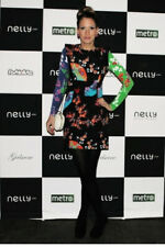 Mini vestido H&M X Versace Negro Y Rosa Flor Oriental, Size UK 12 40, nuevo