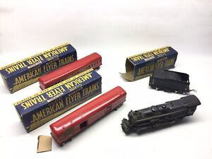 Vintage American Flyer O Gauge 4-4-2 545 Locomotive And Tender With 494 495 Cars