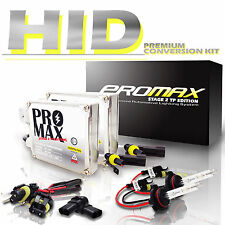 9006 6000K HID XENON LIGHT BULB + BALLAST CONVERSION KIT White Headlight