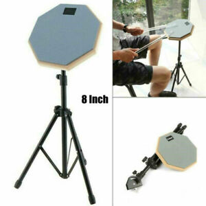 Drum Practice Pad With Stand Kit, 8 Inch Silent Drum Mute Quiet Training Rubber