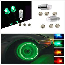 NEW 4 x Green Flashing LED Light Car Wheel Tyre Valve Lamp contour Safety light