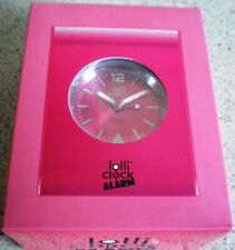 LOLLI CLOCK ALARM UHR IN OVP-PINK FARBE-lolli clock Alarm-tolles Teil-fetzig-TOP