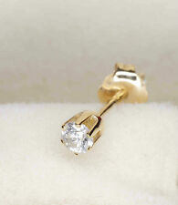 Stud Yellow Gold Excellent 14Carat Fine Diamond Earrings