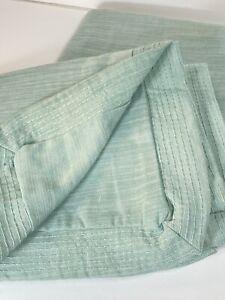 Threshold KING Pillow Sham (2) Mint Chambray Linen Blend NWT