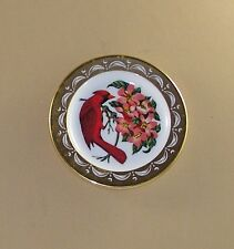 State Birds and Flowers Miniature Plate WEST VIRGINIA Cardinal Rhododendron