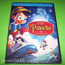 PINOCHO CLASICO DISNEY NUMERO 2 EDICION PLATINO NUEVO PRECINTADO 2 DISCOS DVD