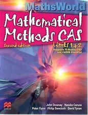 MathsWorld Mathematical Methods CAS - Units 1 and 2 by David Tynan, Philip Swedo