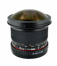 New Rokinon 8mm F/3.5 HD Fisheye Lens with Removable Hood for Canon EOS - HD8M-C