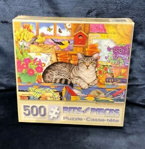 Bits and Pieces Percy Head Gardener Cat Puzzle  500 pieces Brand NEW Sealed