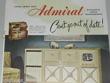 1948 Admiral advertisement, Television Radio Record Player combo