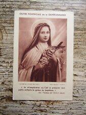 IMAGE PIEUSE ANCIENNE : Sainte Thérèse de l'Enfant Jésus - Sainte Enfance