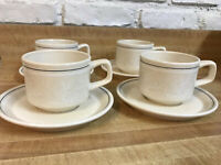 Lenox Temper-ware Silhouette Cup/Mug and Saucer Set (4 sets) C00093