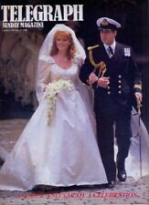 ANDREW & SARAH FERGUSON MARRIAGE - Telegraph Magazine, July 1986. VGC. Free Post
