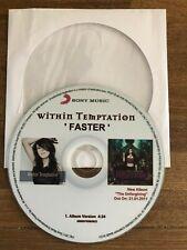 Within Temptation- Sharon den Adel: FASTER - VERY RARE CDr PROMO - POLAND