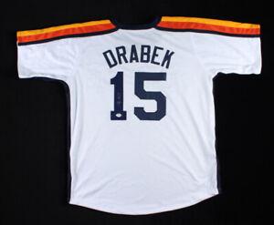 Doug Drabek Signed Houston Astros Jersey (PSA Holo) N.L.All-Star (1994) Pitcher