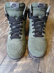 Men's Nike Dunk High Camo Green/Camo Green-Black Size US 8.5 (317982-331)