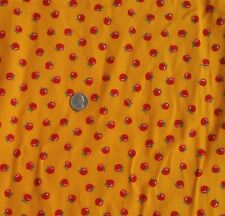 "Cranston & Millworth Cotton Corduroy Fabric Cherries on Orange 60""Wide x Bty"
