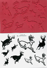 unmounted rubber stamps Deer in Motion  collection  9 images