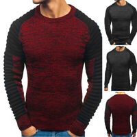Mens Winter Knitted Pullover Slim Fit Tight Tops Blouse Warm Jumper Sweatshirt