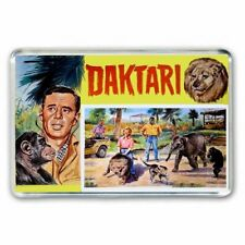 RETRO 1960's TV DAKTARI -JIGSAW PUZZLE BOX ART JUMBO FRIDGE  / LOCKER MAGNET
