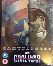 Captain America Civil War UK 3D Blu-Ray Disney Marvel Steelbook - New & sealed
