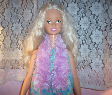 Lavender Fun Fur Boa Scarf For The My Size Barbie Doll