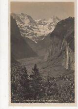 Lauterbrunnenthal Von Wengen Aus Switzerland Rp Postcard 388a