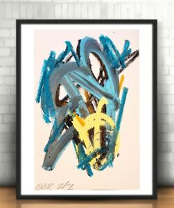 CORBELLIC ABSTRACT ORIGINAL PAINTING EXPRESSIONISM ACRYLIC FINE MODERNISM BLUES