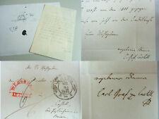 Graf CARL zu CASTELL-CASTELL (1801-1850): 2 Briefe MAINZ 1842 an Direktor Meyer