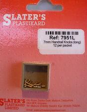 Slaters 7951L - 7mm - 12 x 3.2mm Brass Handrail Knobs New Pack - 1st Class Post