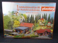 PLASTOY 5 Gebäudebausätze DORFSET ROMANTIK Sägemühl Kapelle1:87 H0 HO NEU BT97