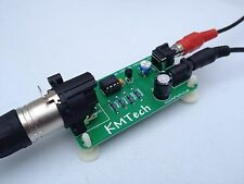 Mono Balanced to Unbalanced Audio Line Converter Adapter ULTRA LOW NOISE