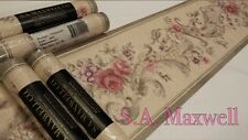 Classic Floral Rose Cream - S. A. MAXWELL PASTED VINYL WALLPAPER BORDER 7010-229